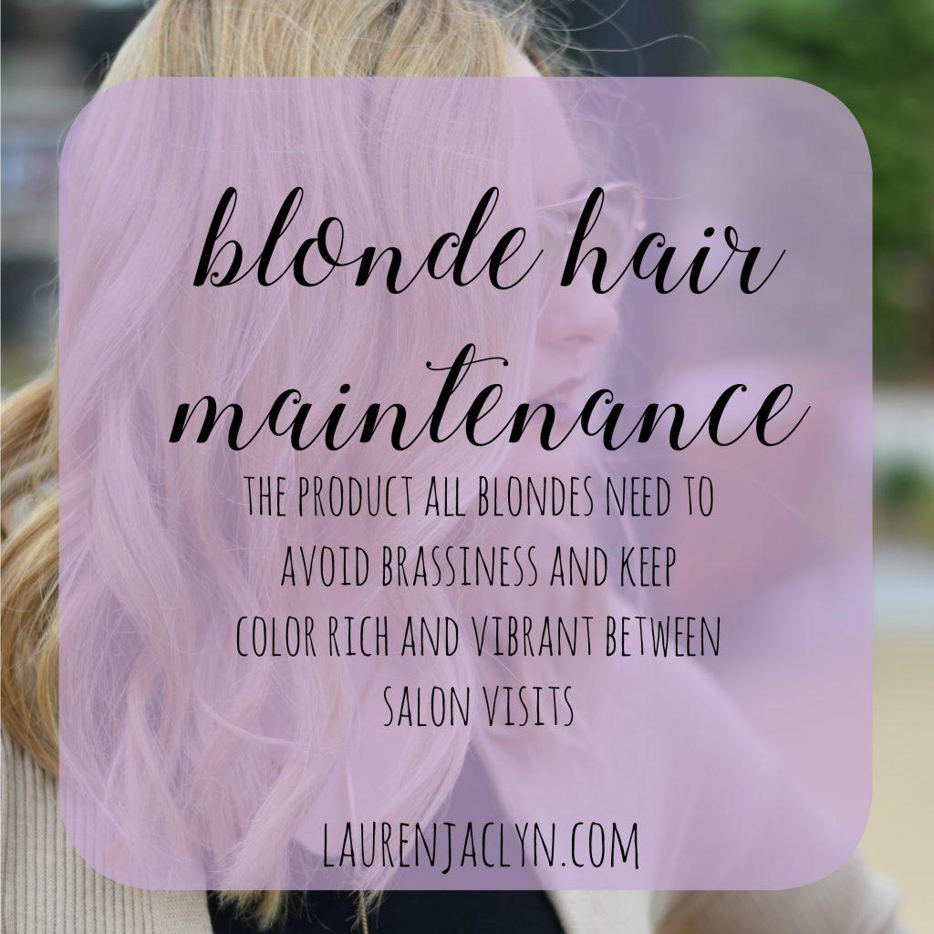 Blonde Hair Maintenance: Purple Magic
