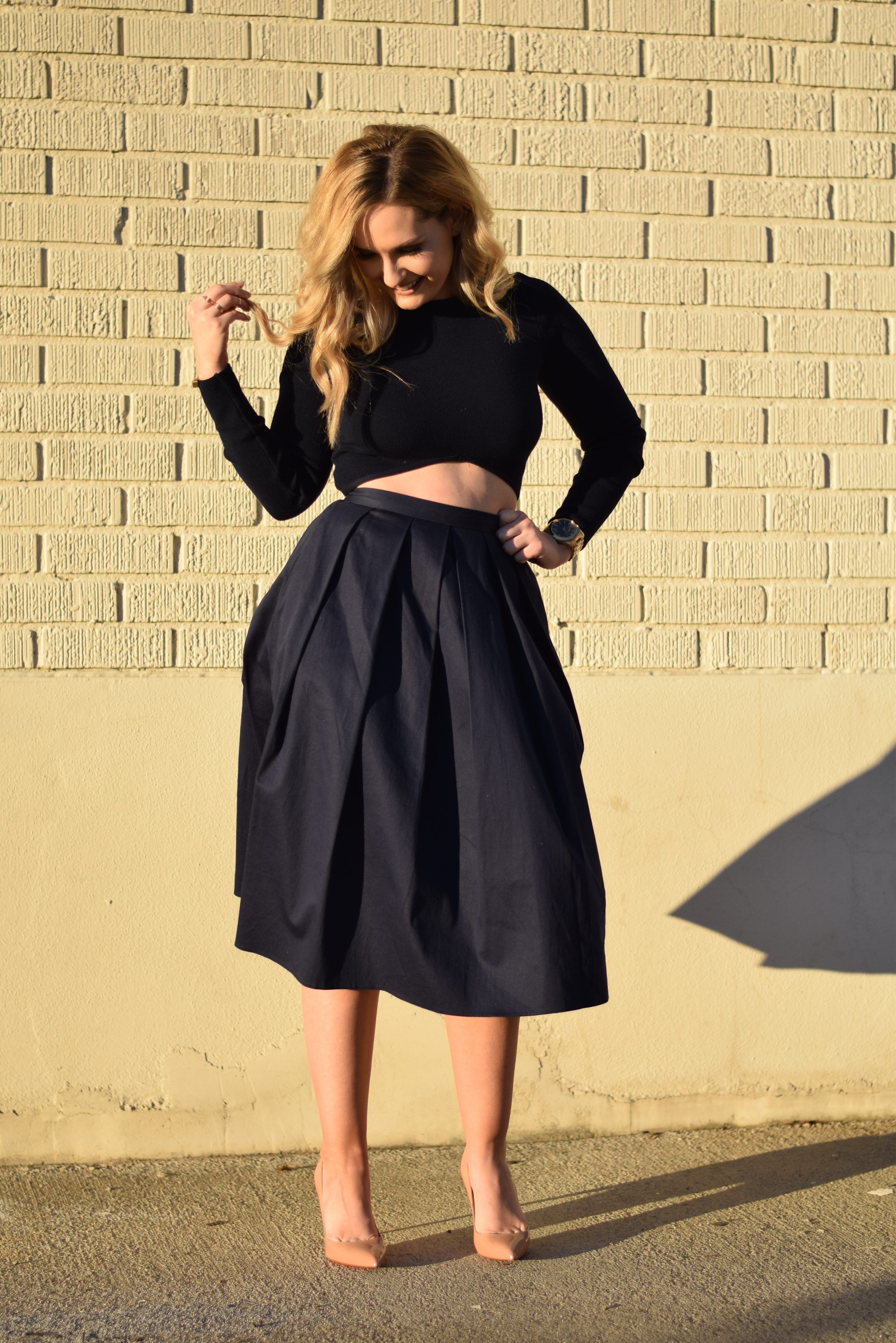 How to Style an A-Line Skirt - LaurenJaclyn.com