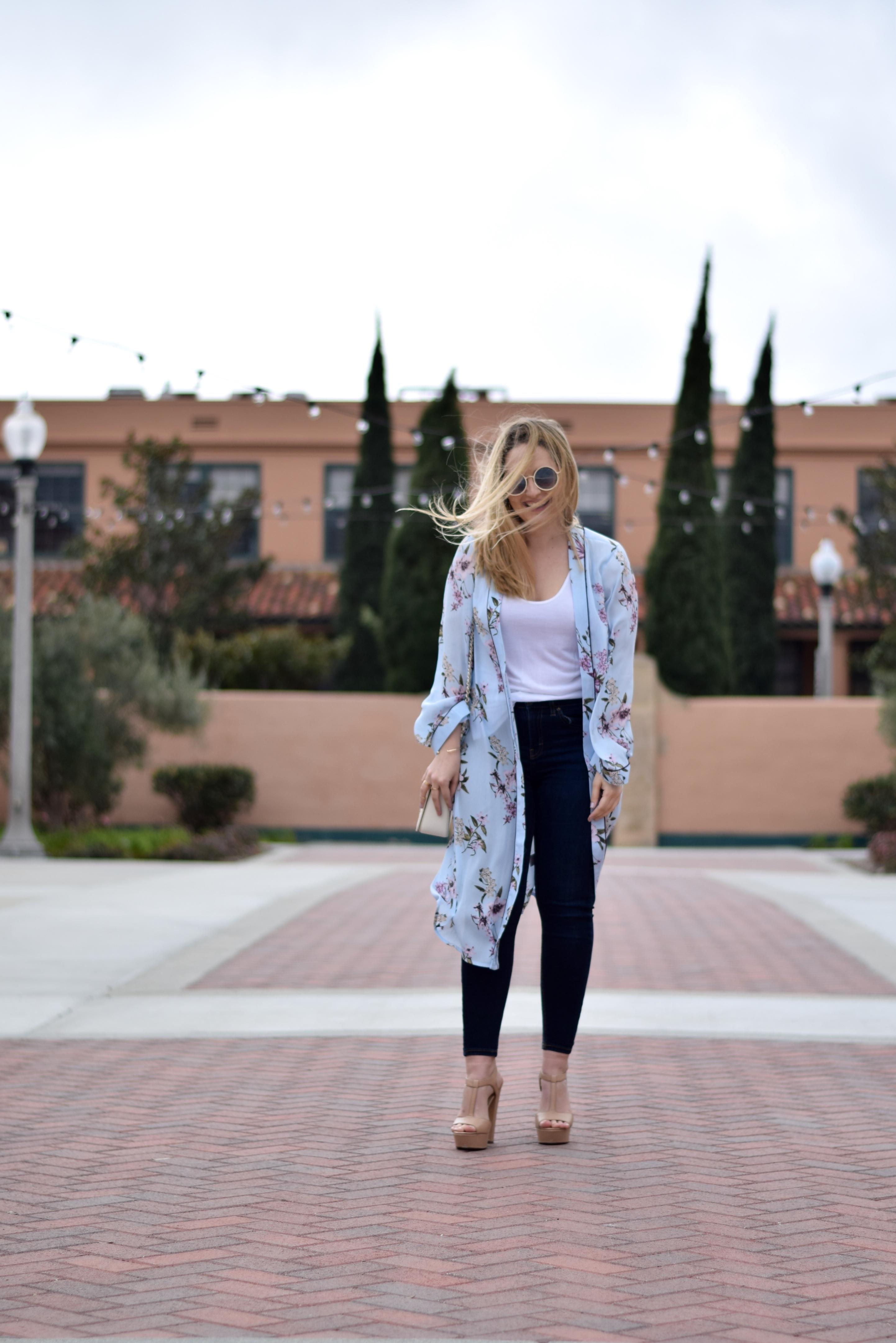 Floral Kimono - LaurenJaclyn.com