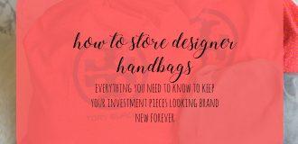 How to Store Designer Handbags