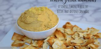 Lemon Garlic Hummus Recipe