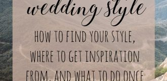 Finding Your Wedding Style