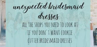 Unexpected Bridesmaid Dresses